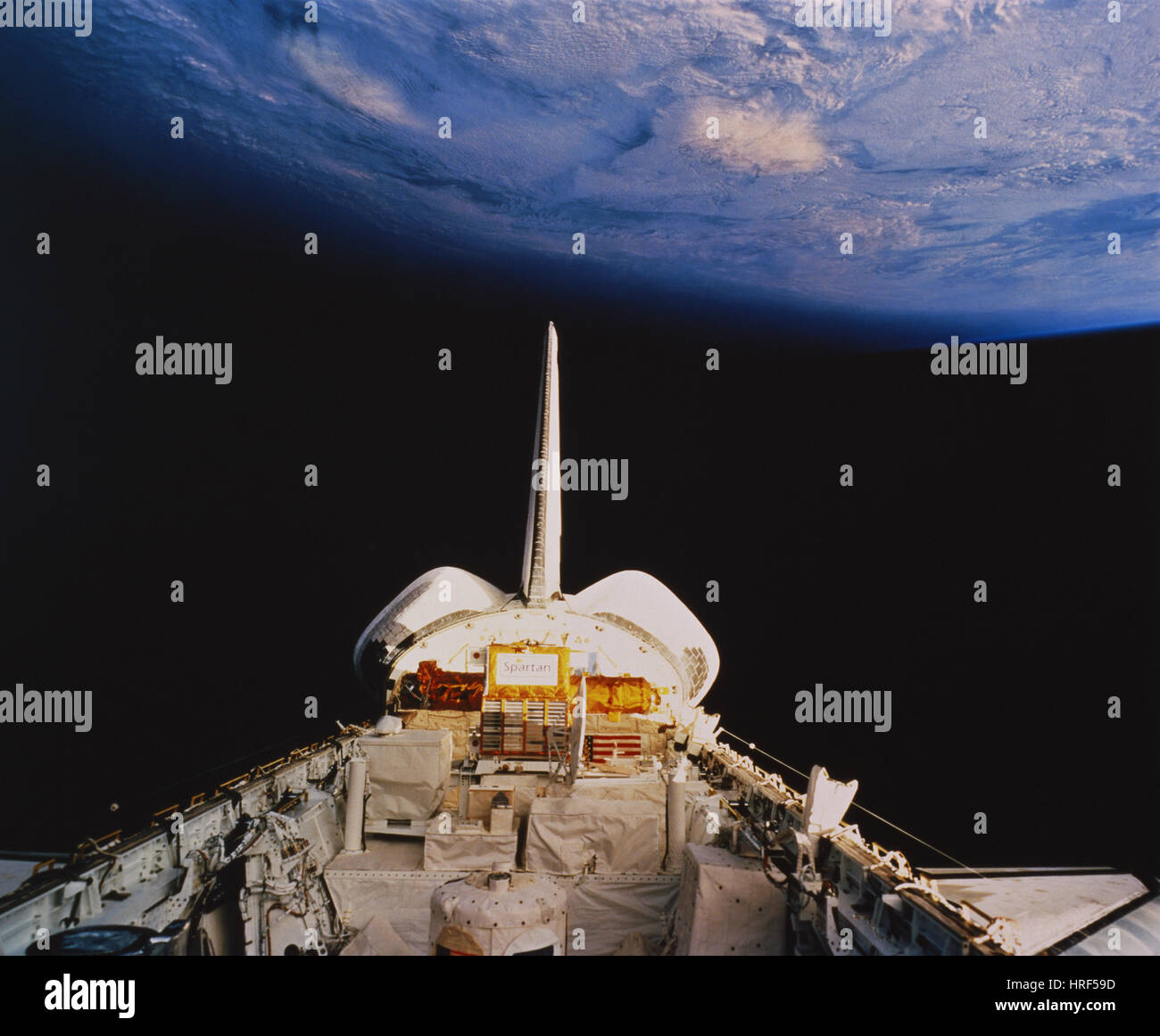 STS-56, Space Shuttle Discovery, 1993 - Stock Image