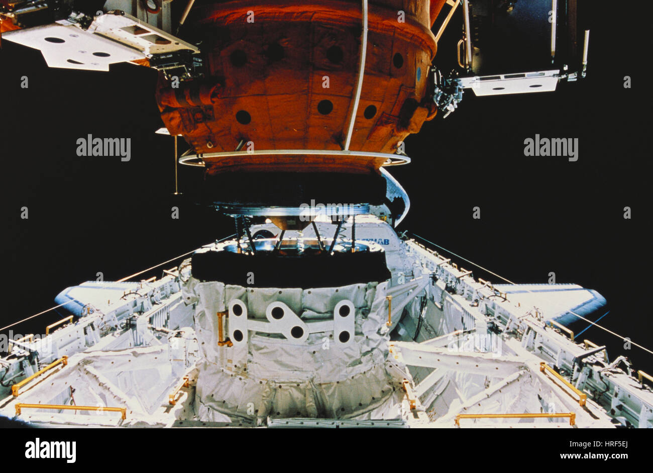 STS-76, Atlantis Docks with Mir, 1996 - Stock Image