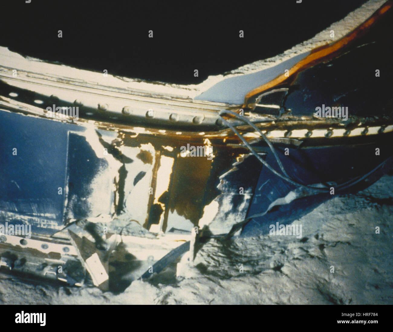 Challenger Shuttle Debris Stock Photo 134944660 Alamy