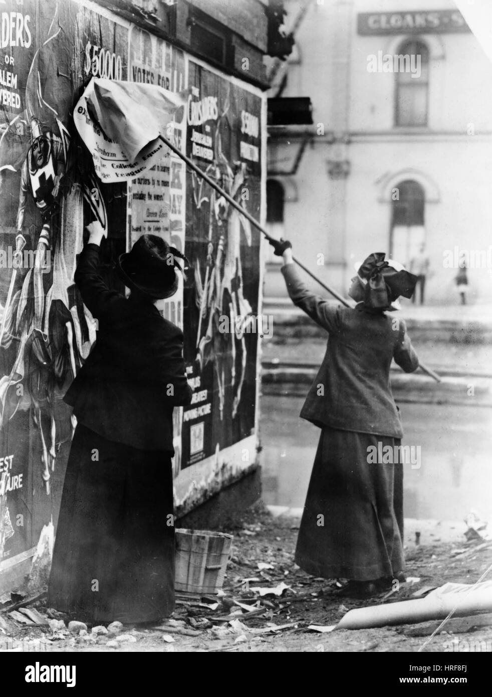 Suffragists Postering - Stock Image