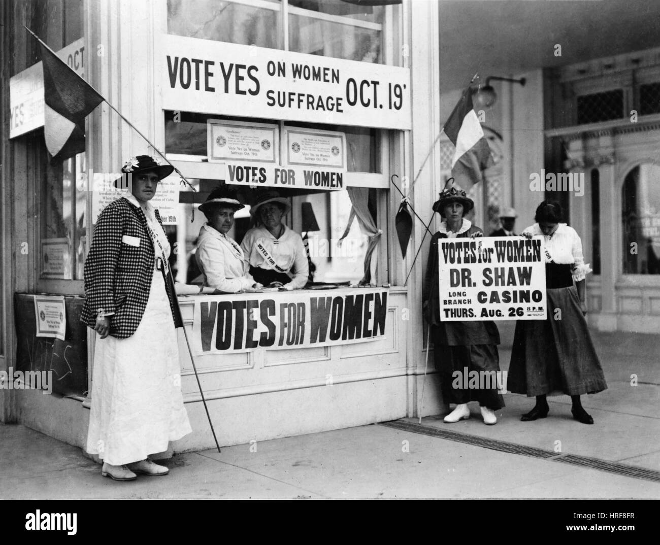 Suffragist Booth - Stock Image