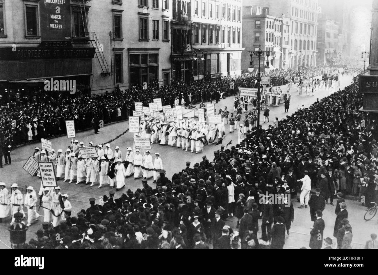Suffragist Parade - Stock Image