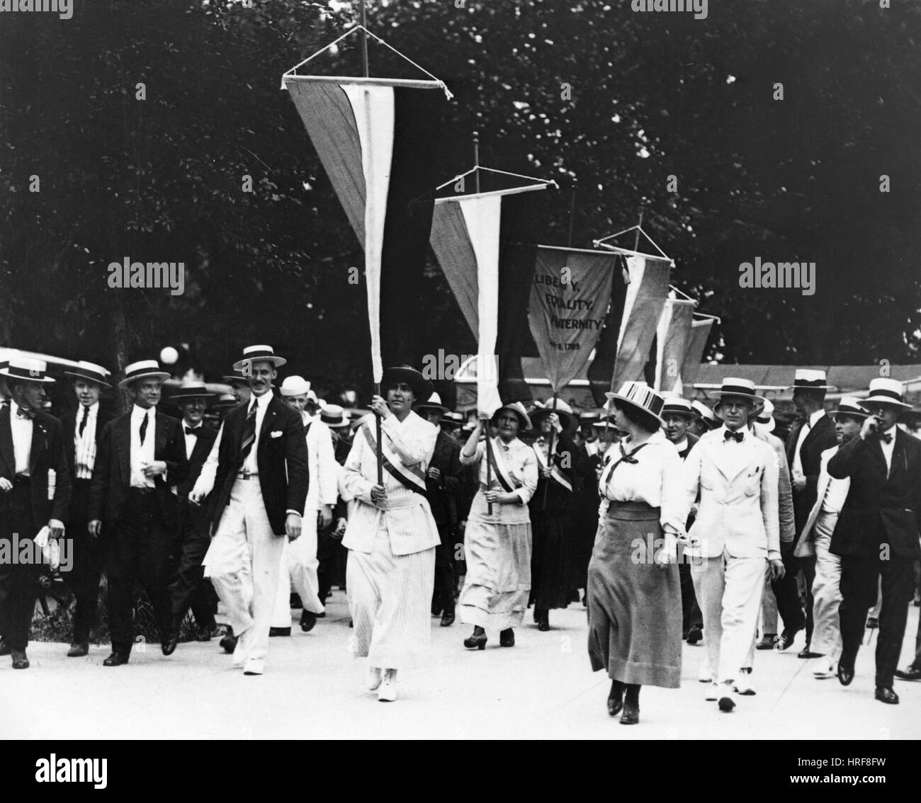 Suffragist Rally - Stock Image