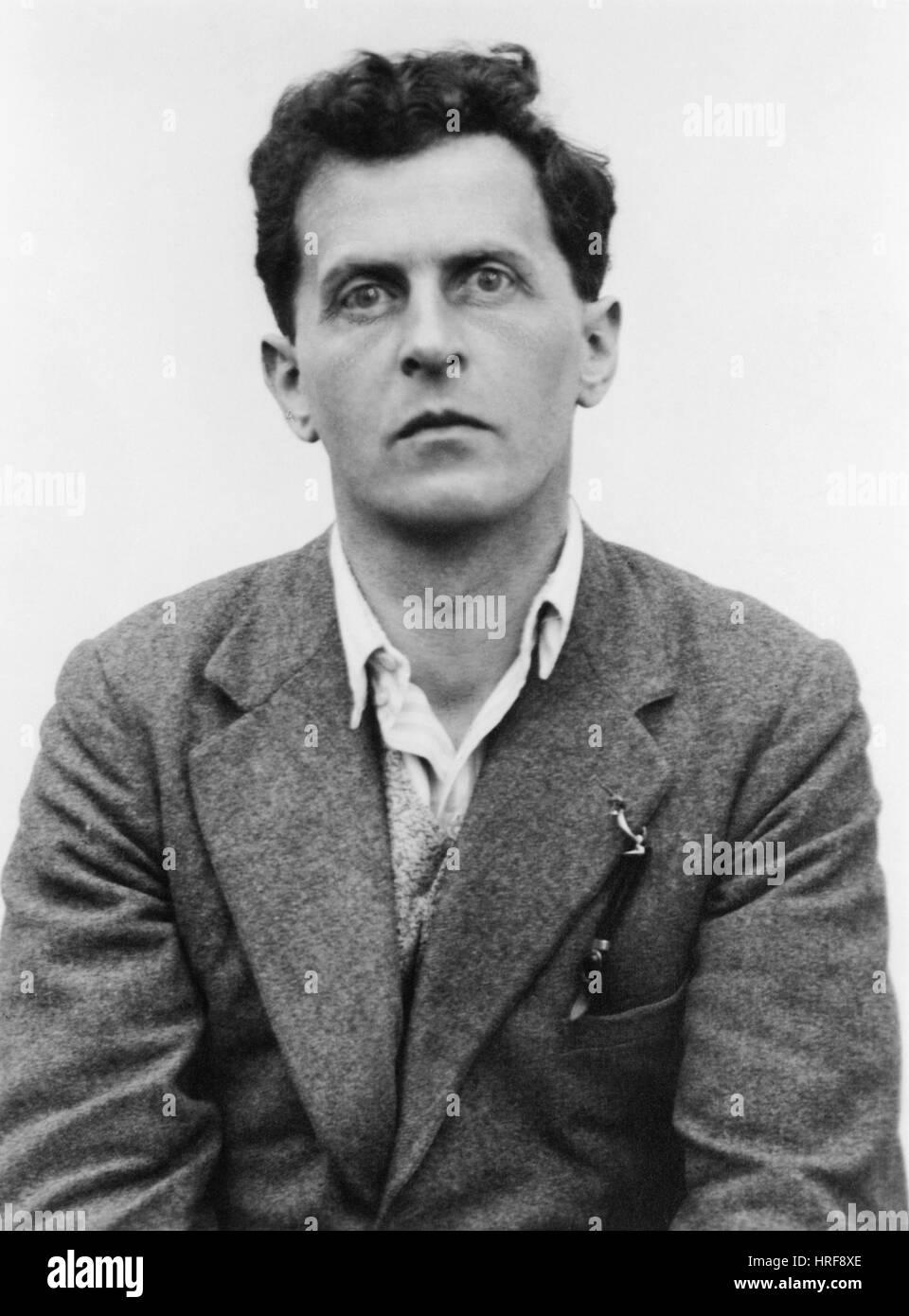 Ludwig Wittgenstein, Austrian Philosopher - Stock Image