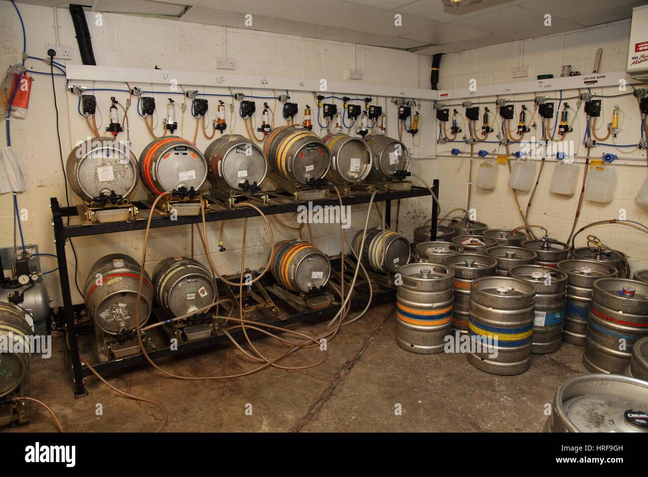 Beer Cellar Stock Photos Images Alamy Wiring Diagram For Keg Kegs In The Of A Pub Image