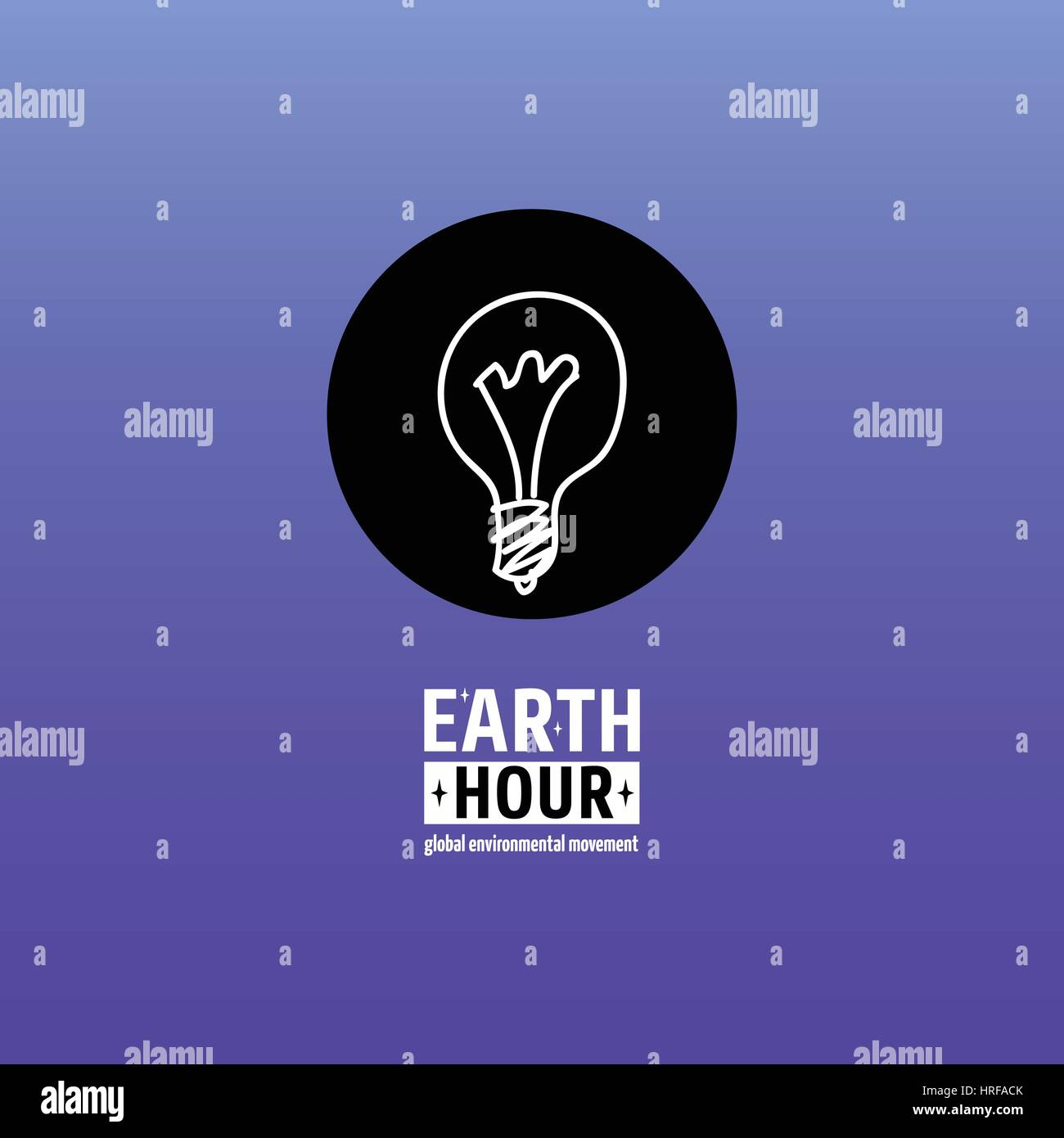Earth Hour is a Global Environmental Movement. Vector icon with text. Concept of energy saving and stopping climate - Stock Vector