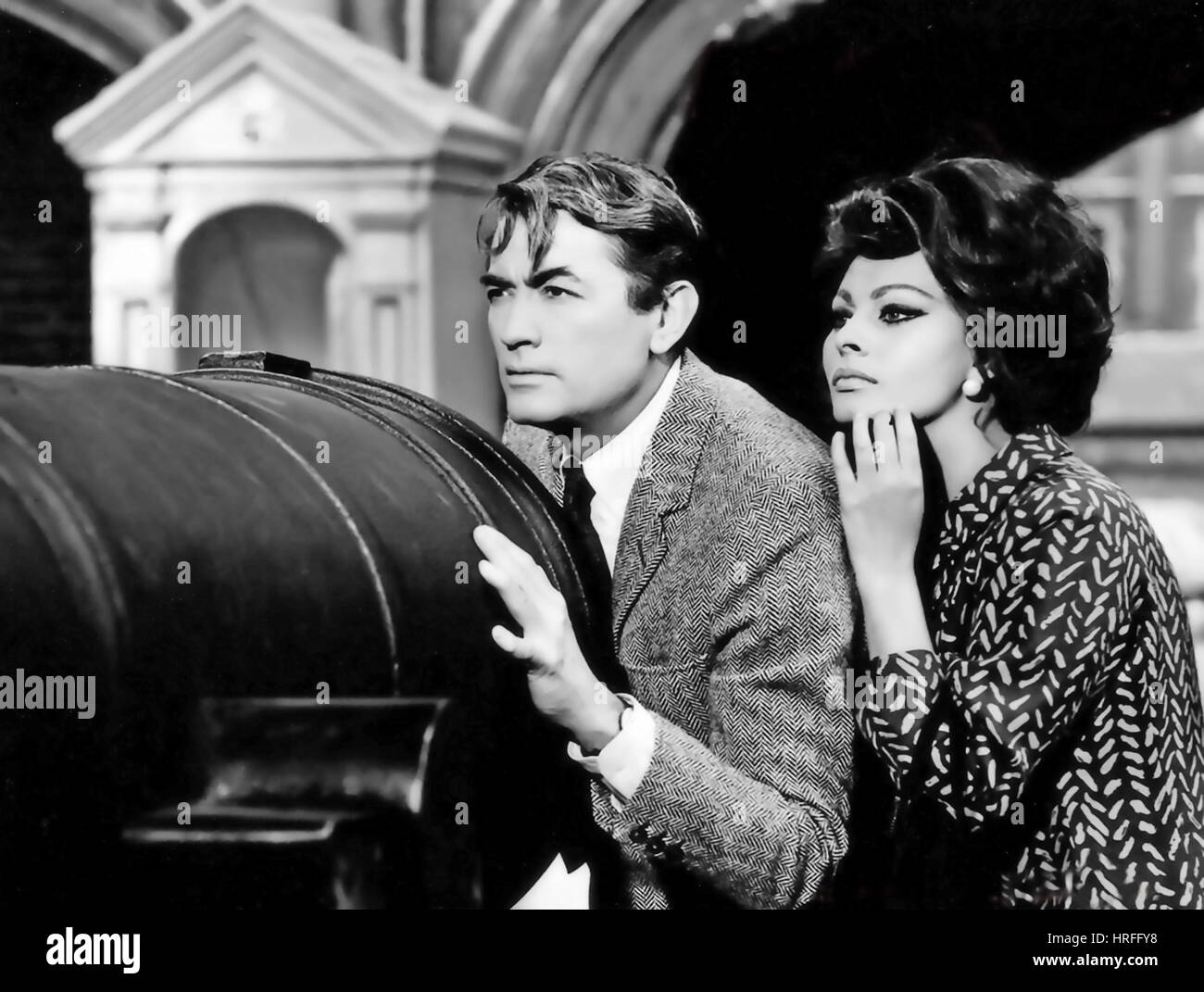ARABESQUE 1966 Universal Pictures film with Gregory Peck and Sophia Loren - Stock Image