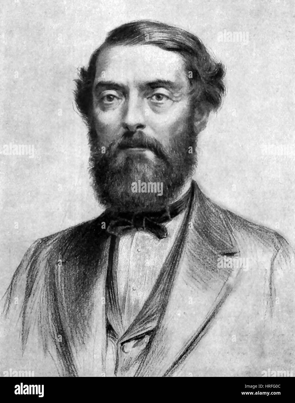 EDWIN DRAKE (1819-1880) American oil prospector - Stock Image