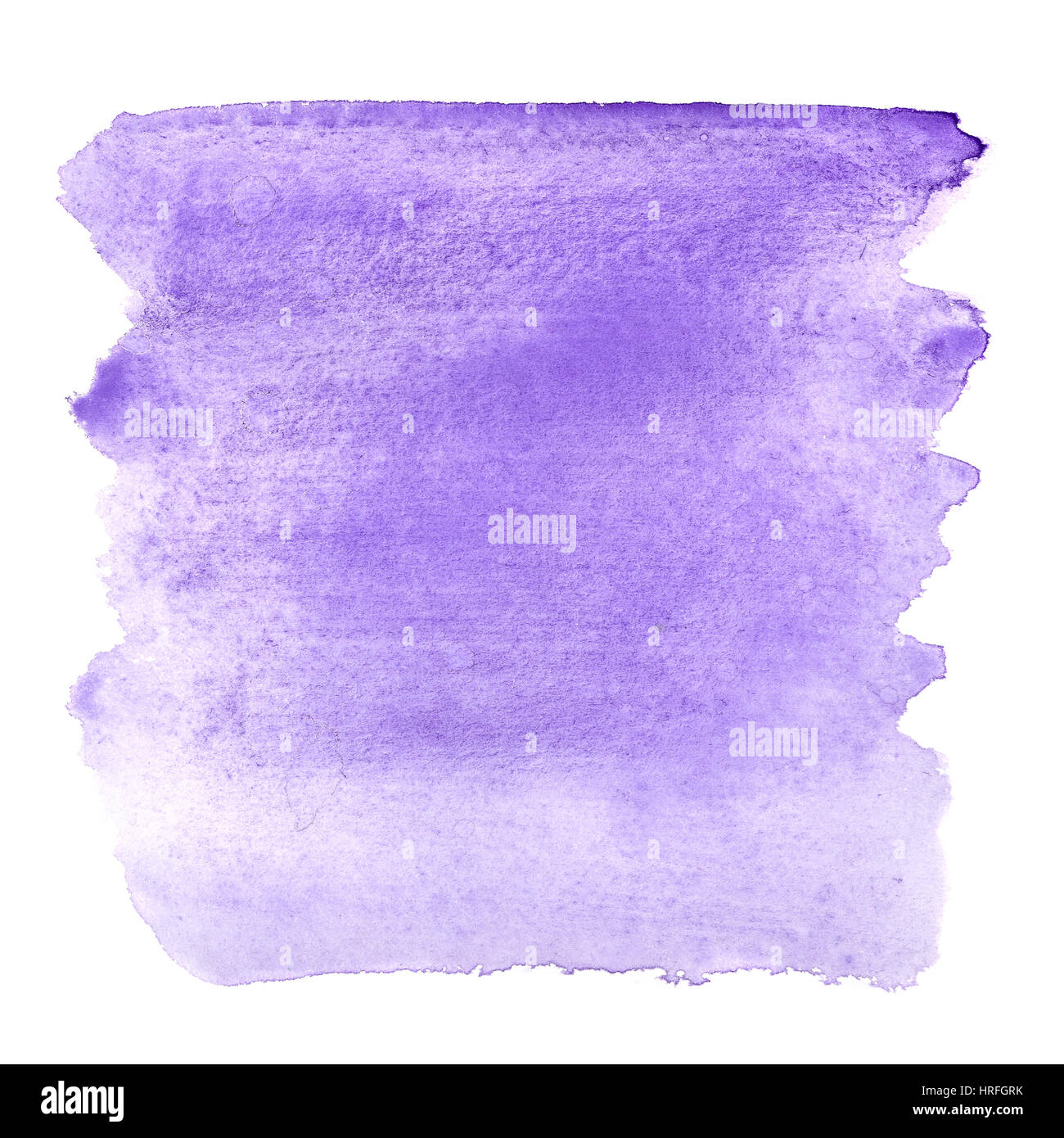 Blue violet watercolor brush strokes - abstract background - Stock Image