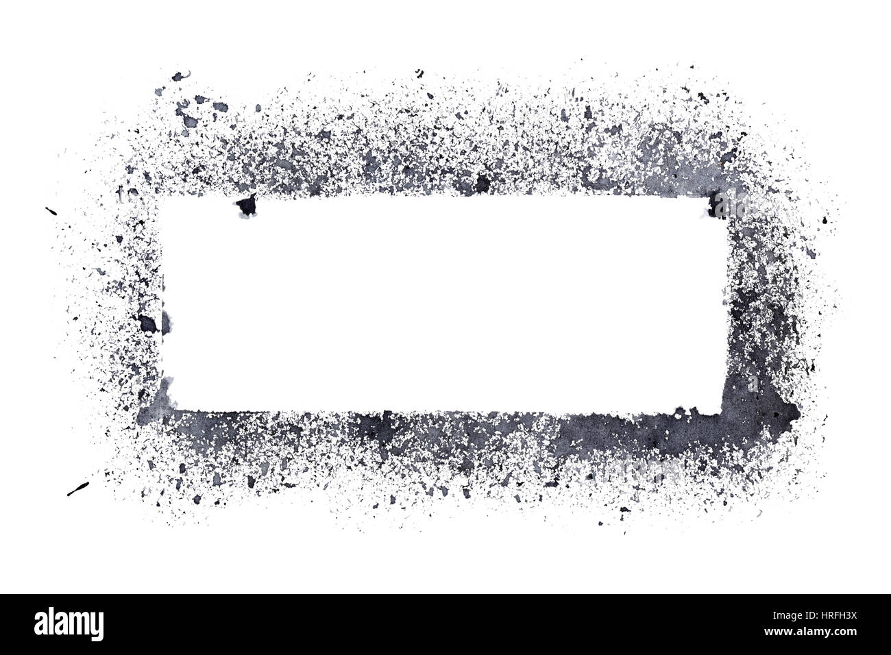 Rough stencil frame isolated on the white background Stock Photo ...