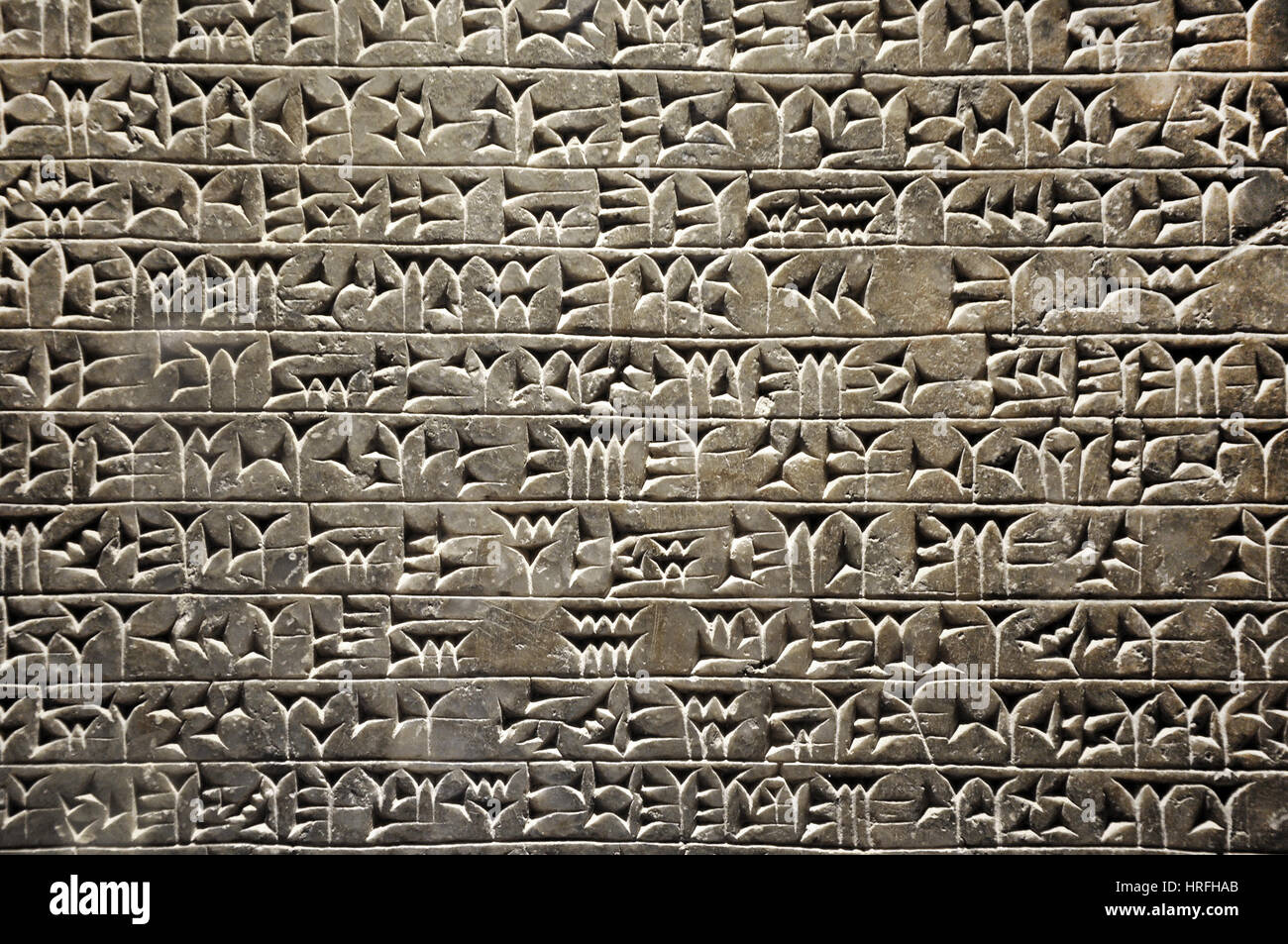 Cuneiform writing of the ancient Sumerian or Assyrian ...