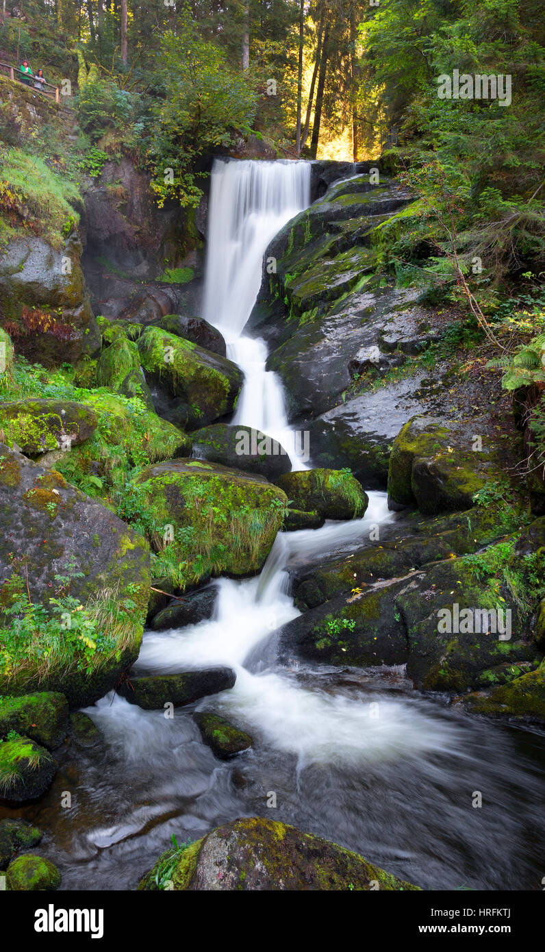 Waterfall, Triberg, Black Forest, Germany - Stock Image