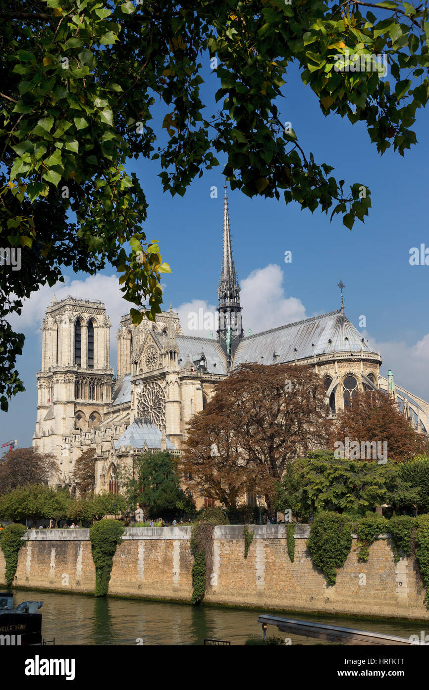 Notre Dame, Ile de Cities, Paris, France - Stock Image