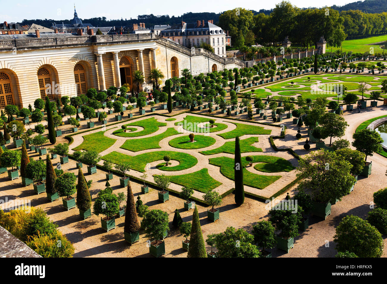 Gardens of the Palace of Versailles, France - Stock Image