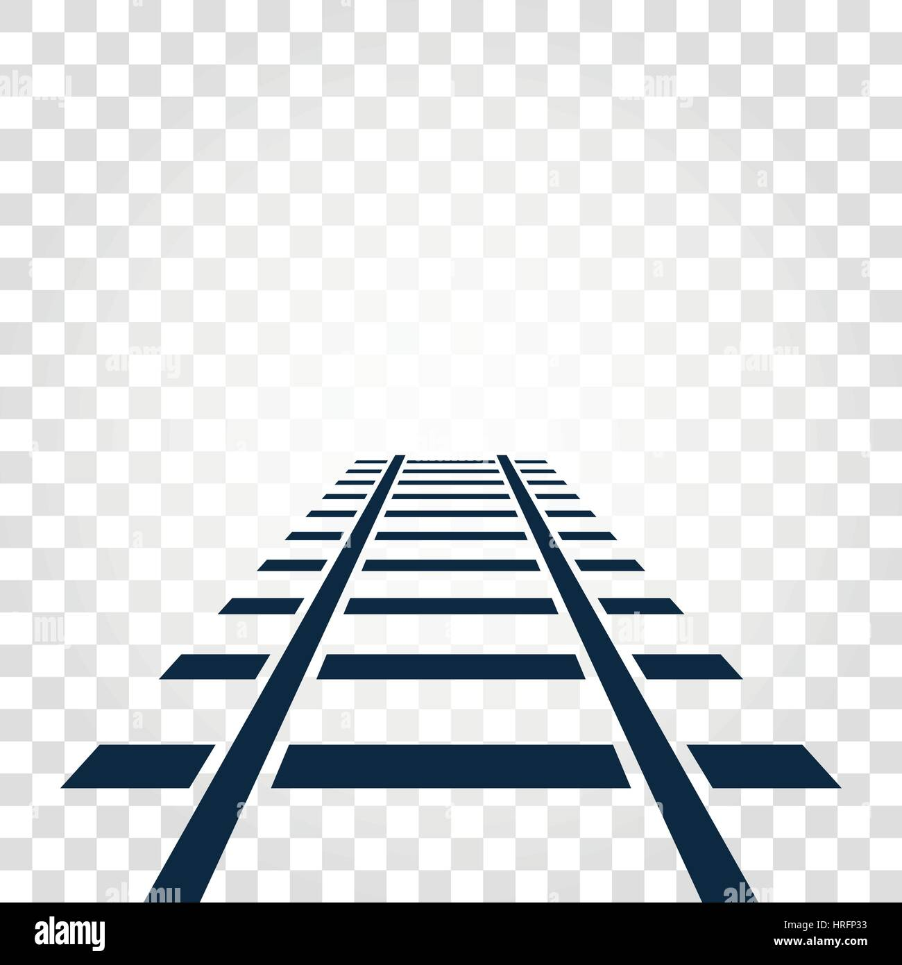 isolated rails railway top view ladder elements vector stock