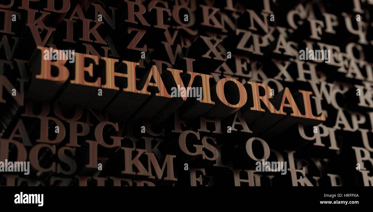 Behavioral - Wooden 3D rendered letters/message.  Can be used for an online banner ad or a print postcard. - Stock Image