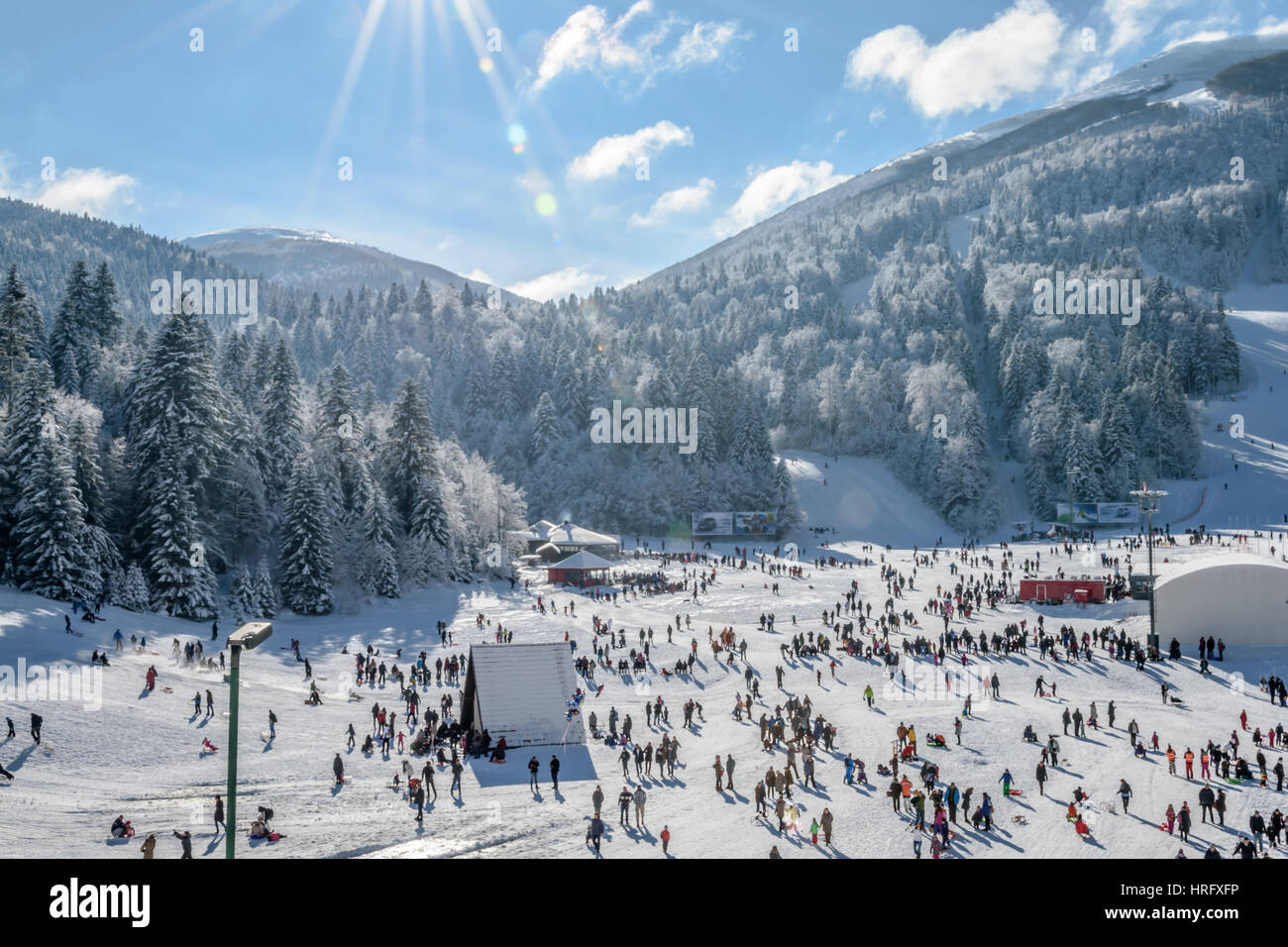 People on the snow - Stock Image