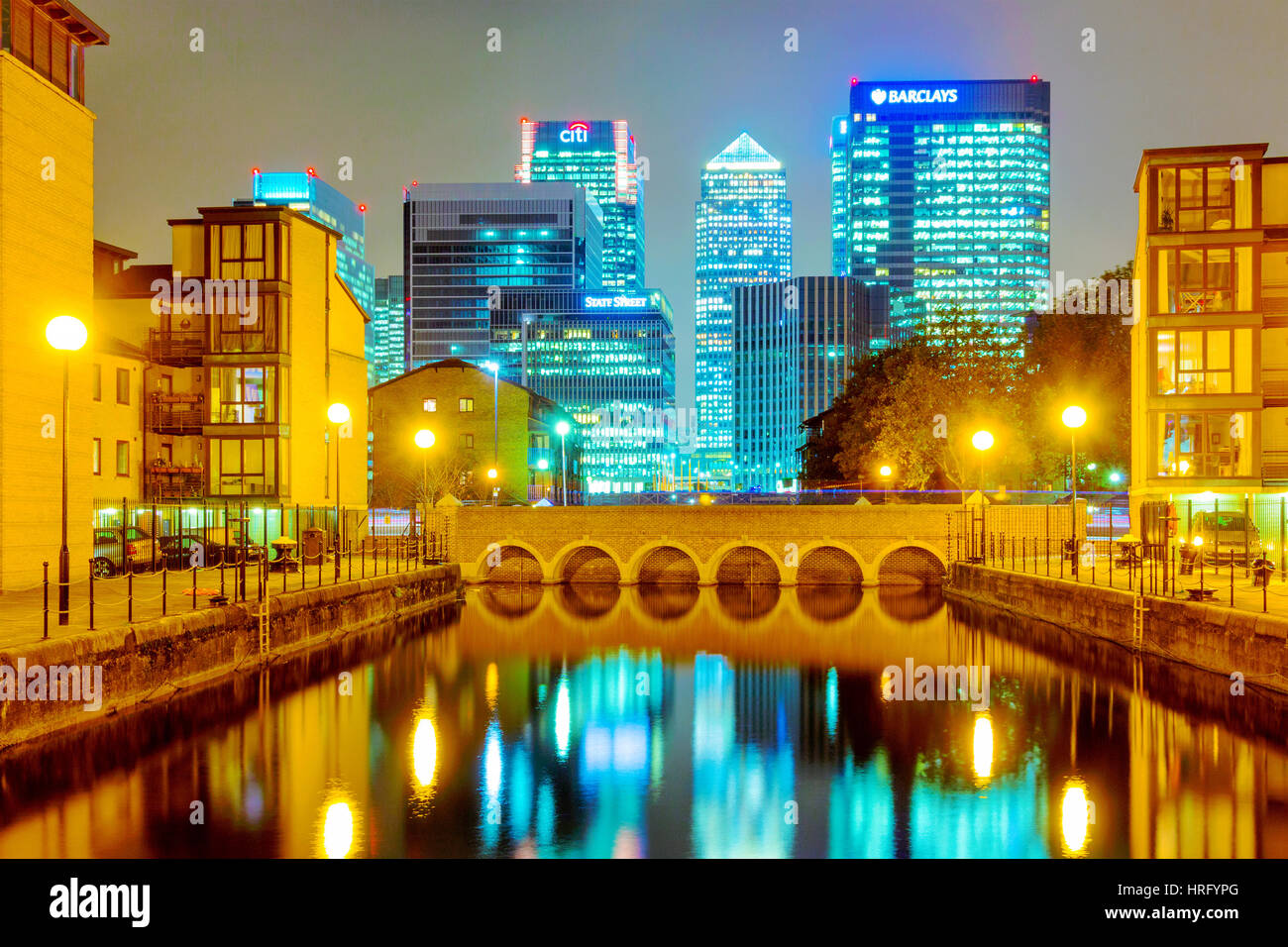 LONDON - OCTOBER 24: This is a residential area of modern flats within Canary wharf financial district you can see - Stock Image