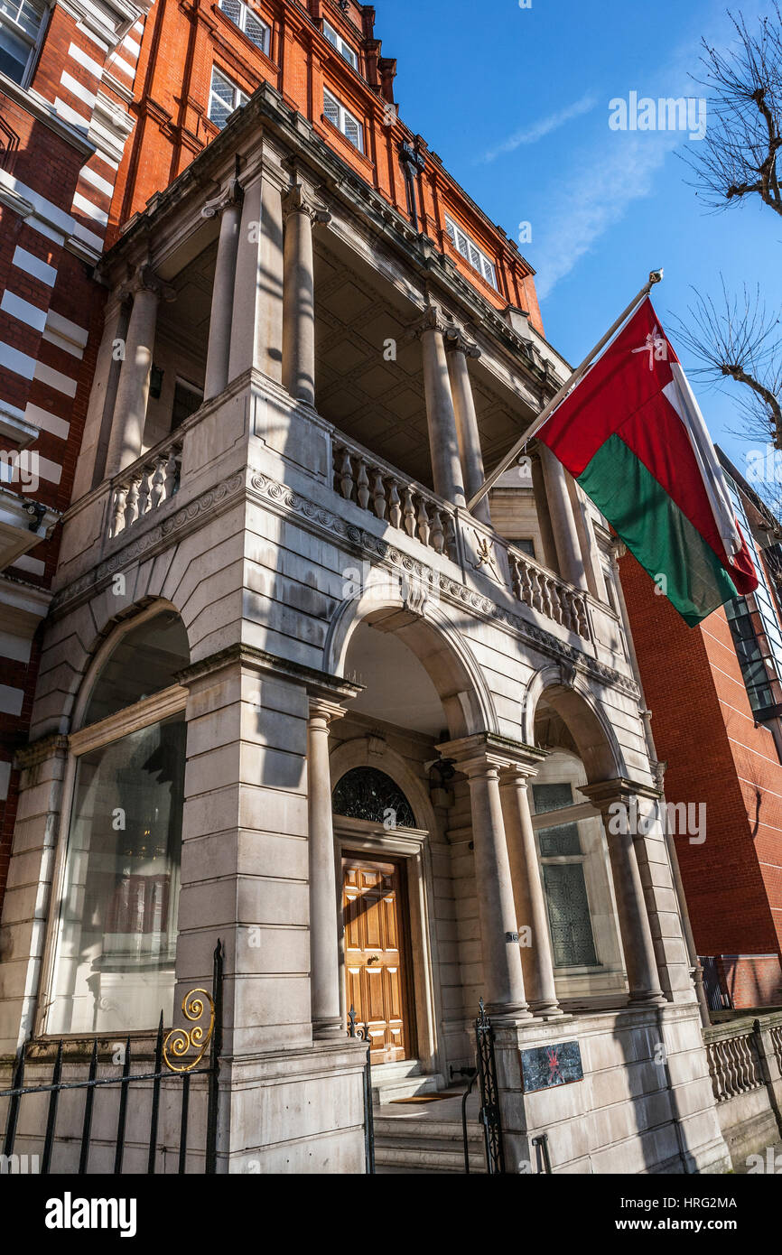 The Embassy of the Sultanate of Oman, London - Stock Image