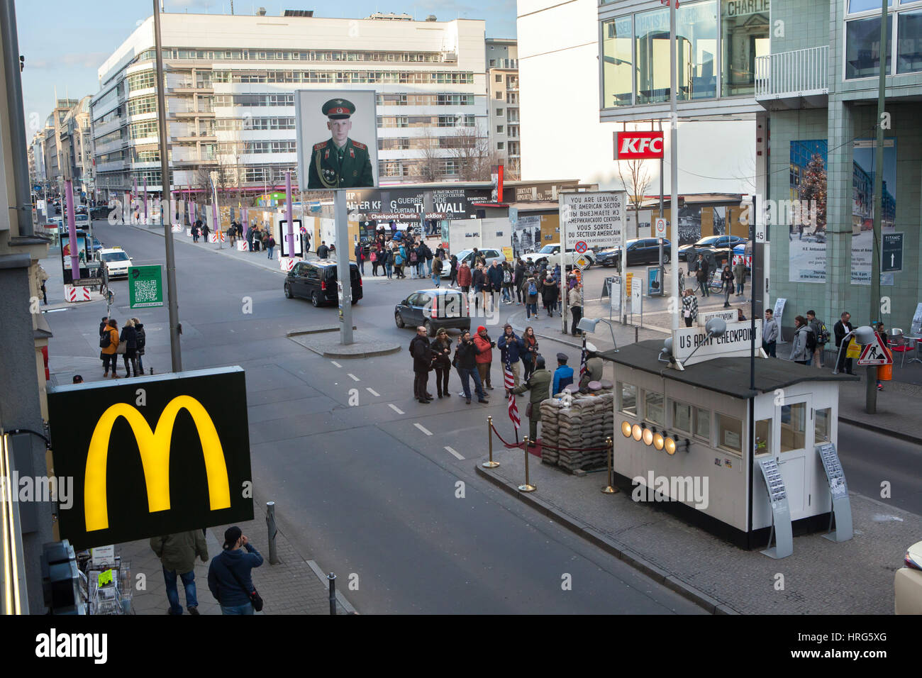 Checkpoint Charlie in Berlin, Germany Stock Photo: 134965560