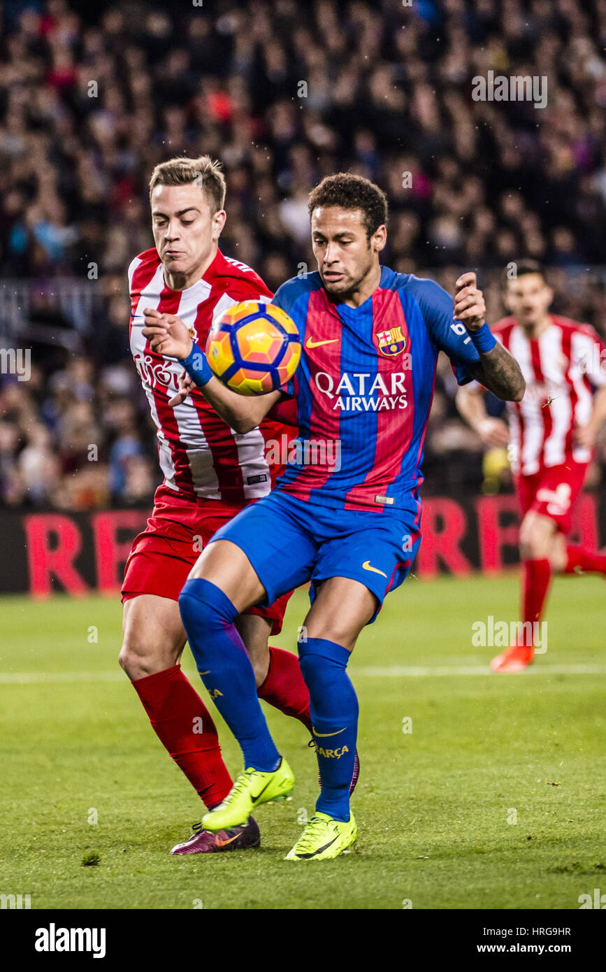 Barcelona, Catalonia, Spain. 1st Mar, 2017. FC Barcelona forward NEYMAR JR. in action during the LaLiga match between Stock Photo