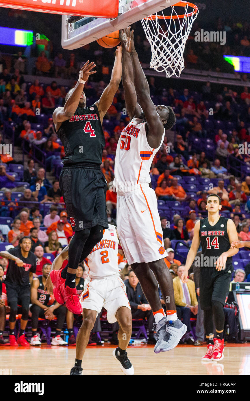 Clemson Tigers Center Sidy Djitte 50 Blocks The Shot Of