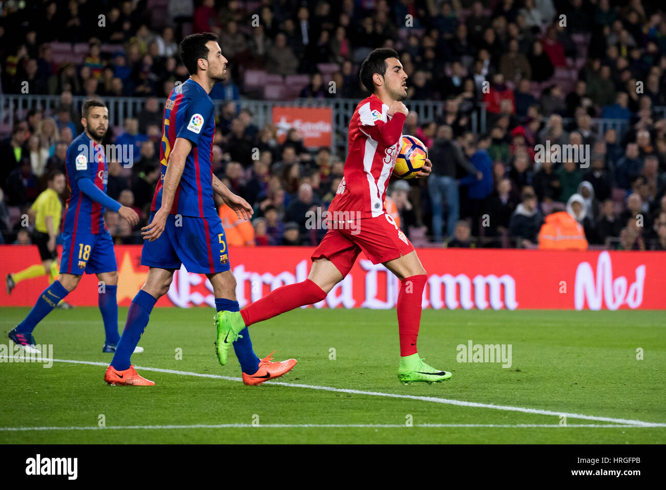 Camp Not Stadium, Barcelona, Spain. 1st March, 2017. C. Castro scored at Camp Nou Stadium, Barcelona, Spain. Credit: - Stock Image