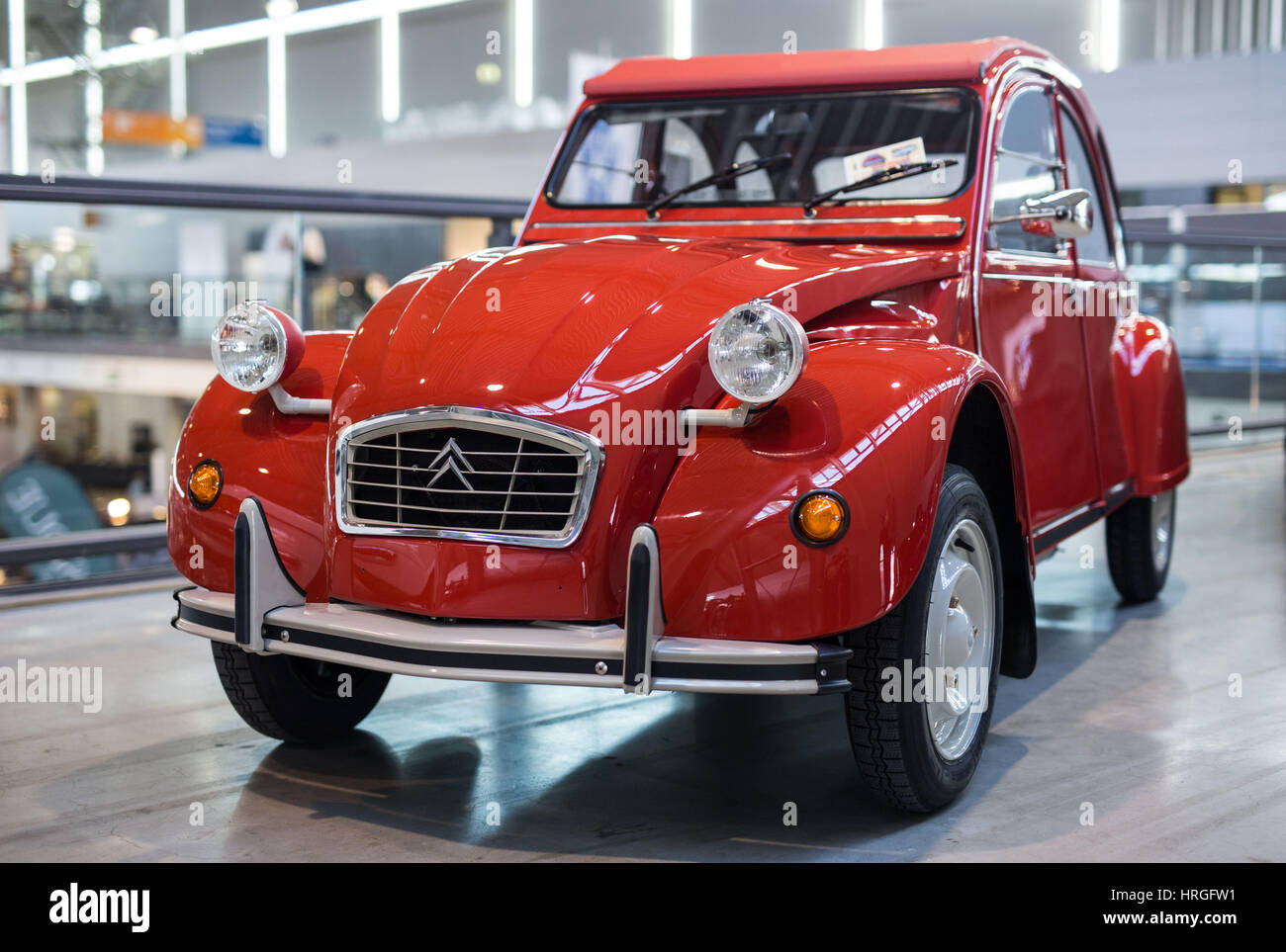 Stuttgart, Germany. 02nd Mar, 2017. A Citroen 2CV at a classic cars ...