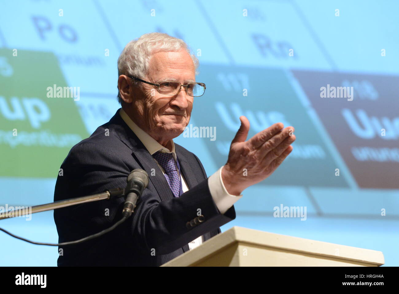 Moscow, Russia. 2nd Mar, 2017. Mikhail Itkis, Vice-Director of the Joint Institute for Nuclear Research, addresses - Stock Image