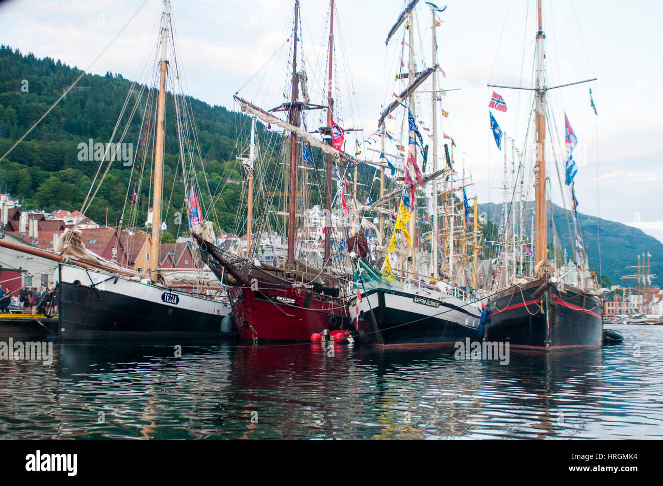Tall Ship Races at Bryggen, Bergen Norway. - Stock Image