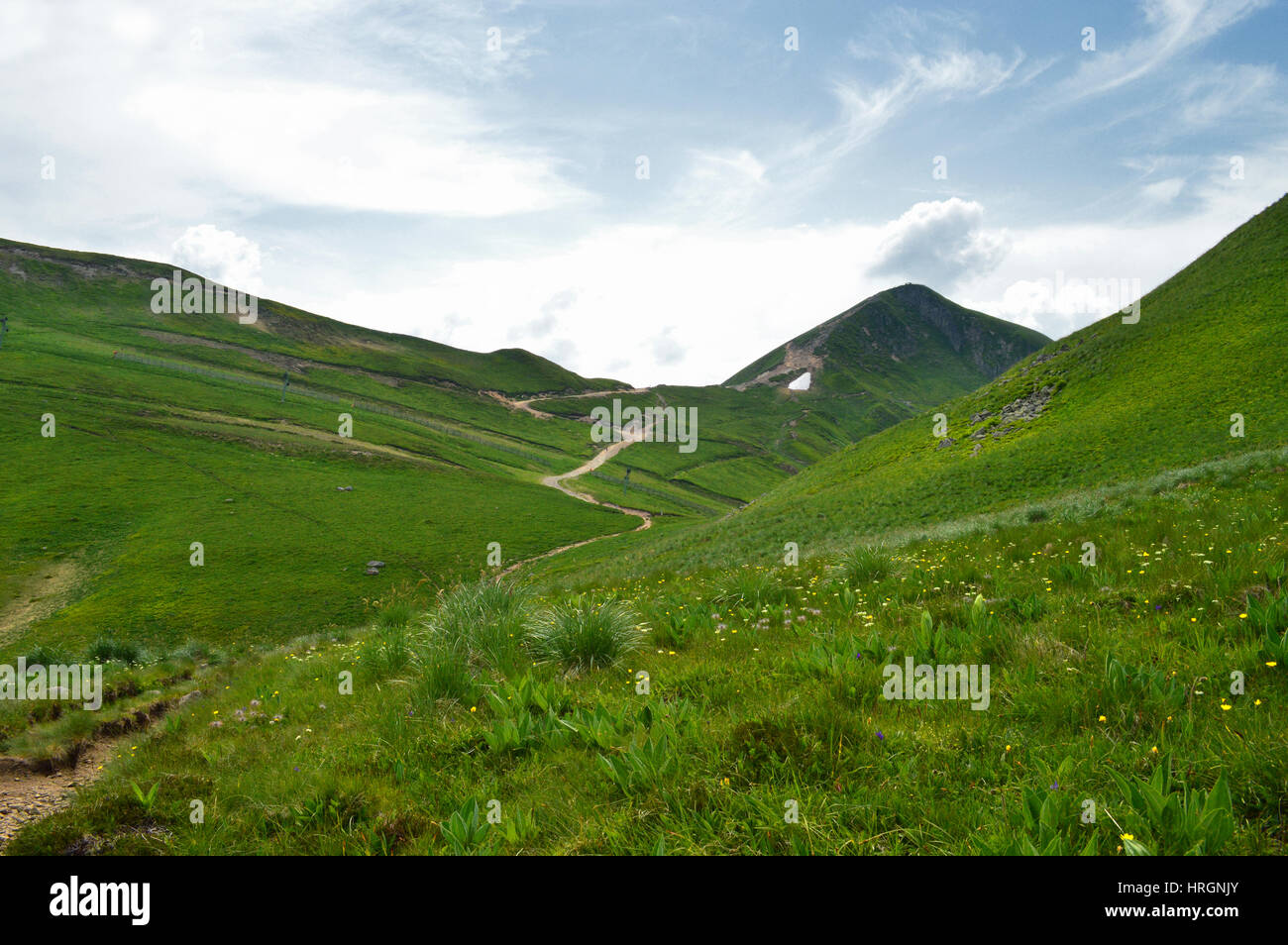 The mountains of Sancy in the center of France, Auvergne. - Stock Image