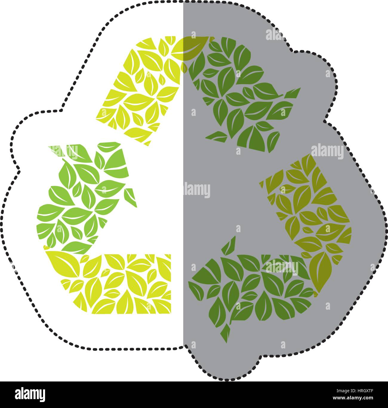 green symbol reuse, reduce and recycle icon - Stock Image