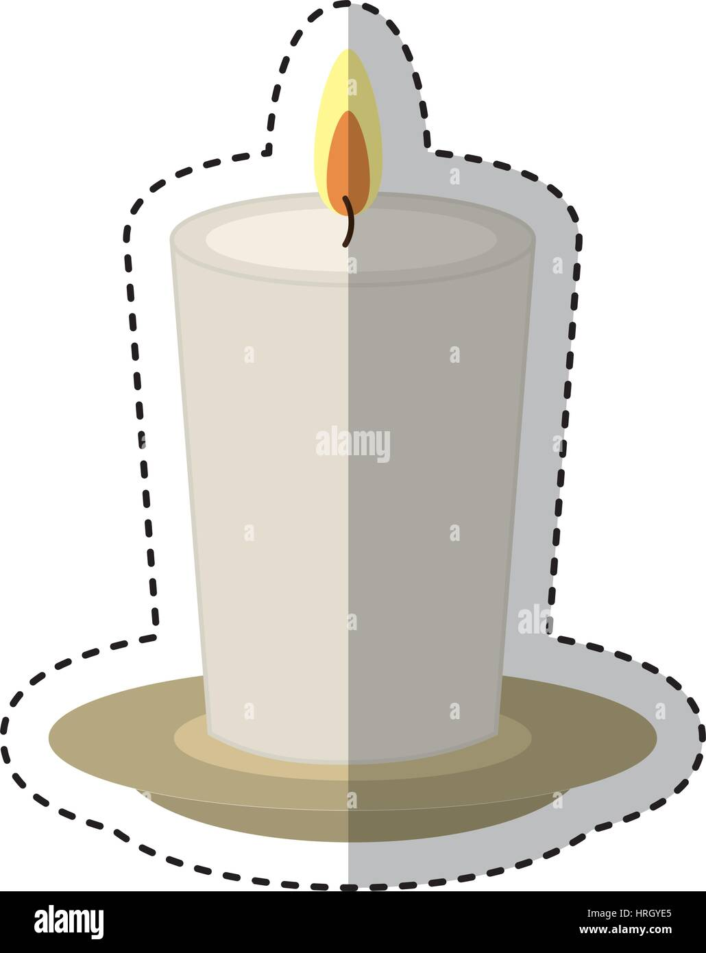 candle spa aroma therapy - Stock Image
