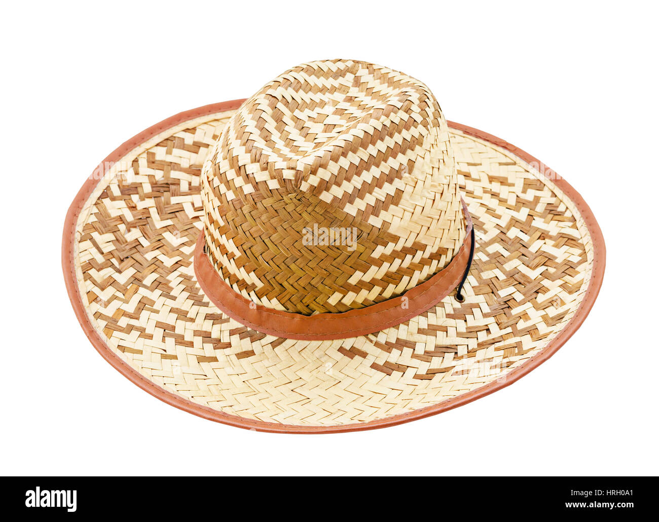 5d7bc048 straw hat isolated on white background, Saved clipping path Stock ...