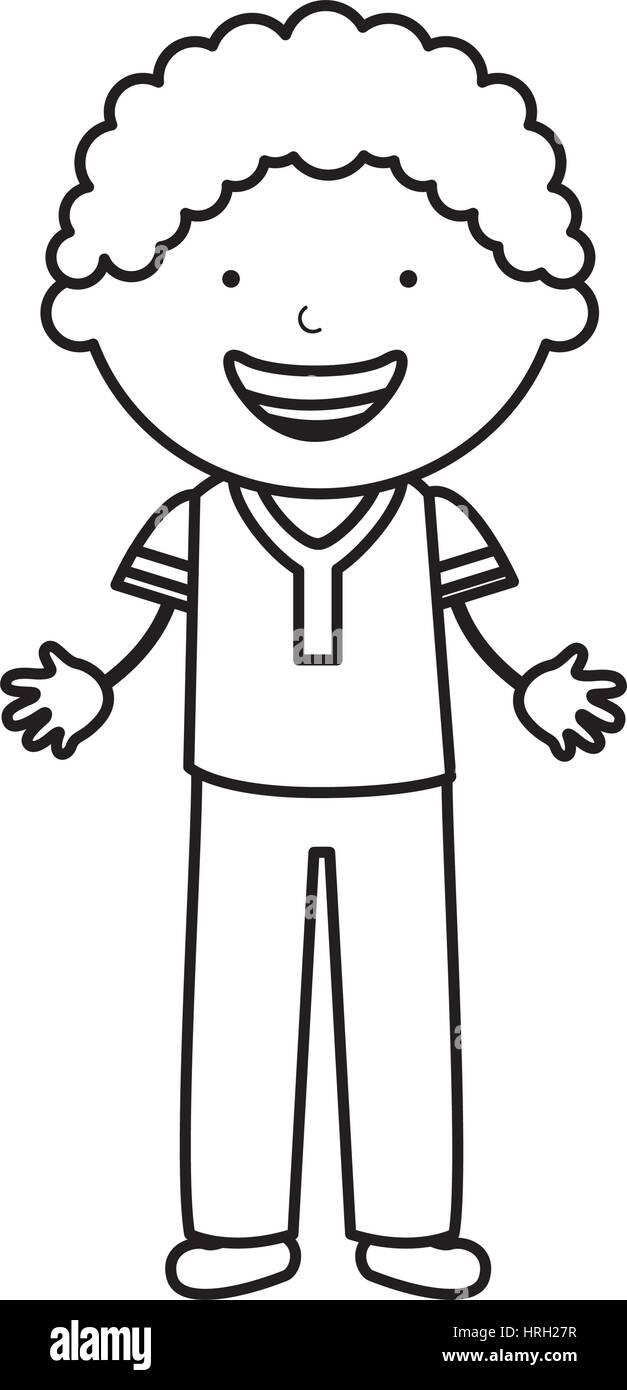 cute little boy character Stock Vector