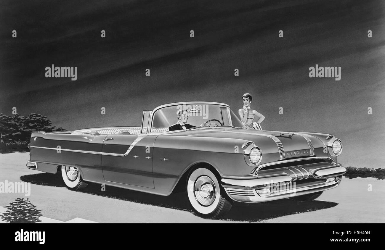 1955 Pontiac Star Chief Convertible - Stock Image