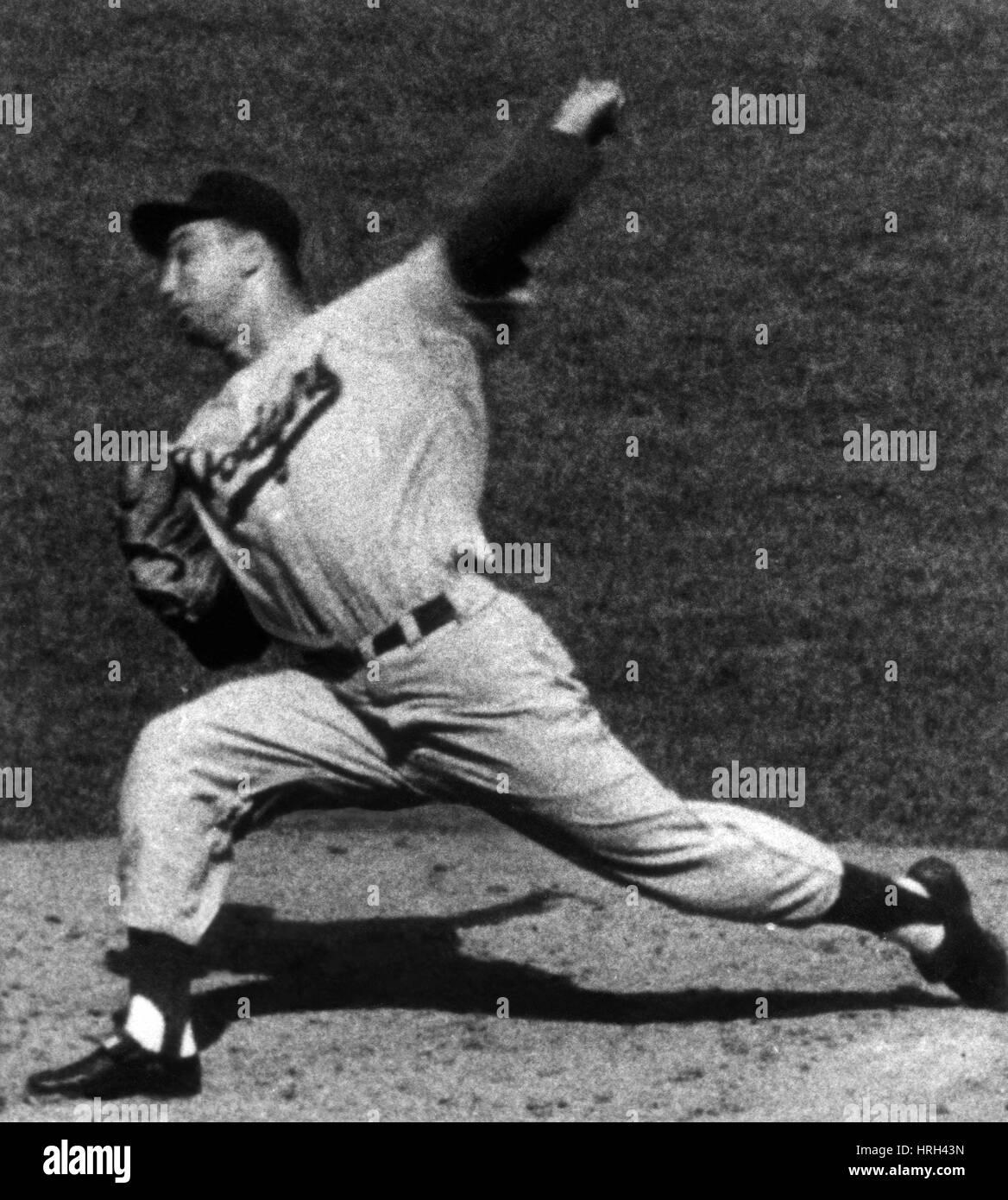 Johnny Podres, American MLB Player - Stock Image