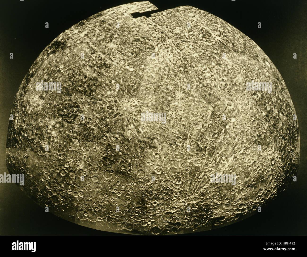 Mercury, Mariner 10 Image - Stock Image