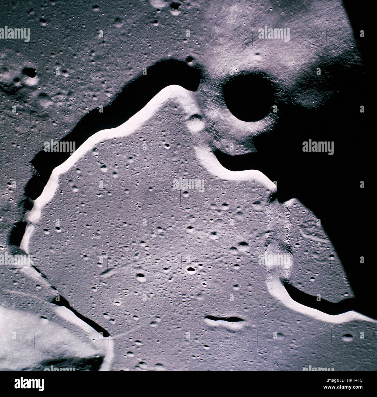 The moon from Apollo 15 - Stock Image