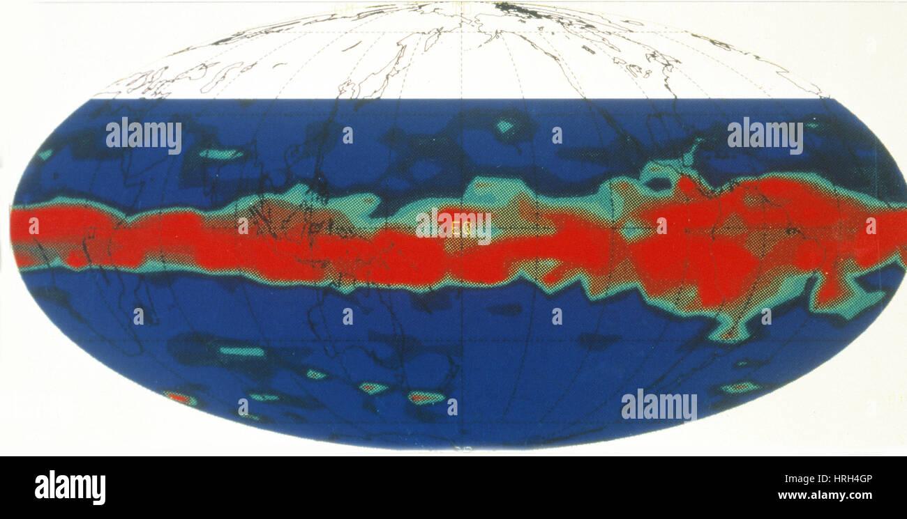Pinatubo Eruption, Sulfur Dioxide, UARS Image - Stock Image