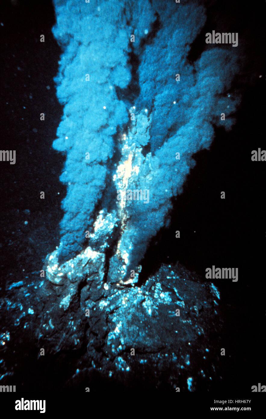 Black smoker submarine vent - Stock Image