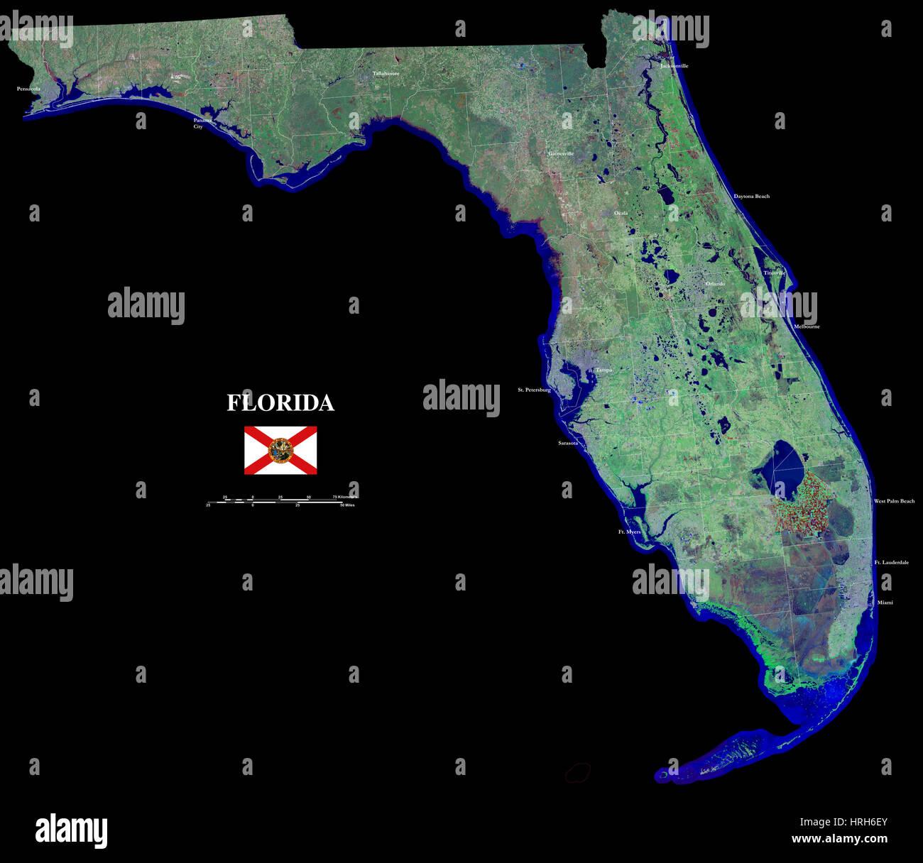 Florida Map Usa Stock Photos Florida Map Usa Stock Images Alamy