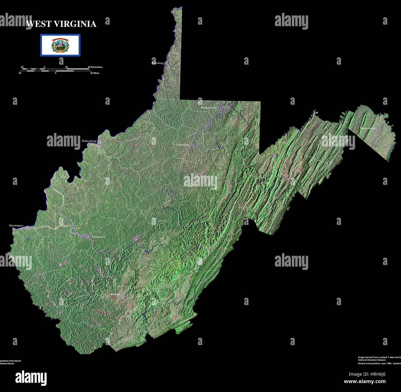 West Virginia - Stock Image