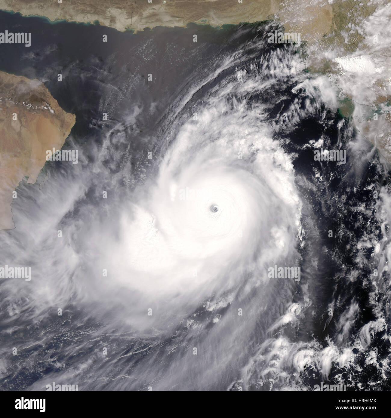Tropical Cyclone Gonu, 2007 Stock Photo