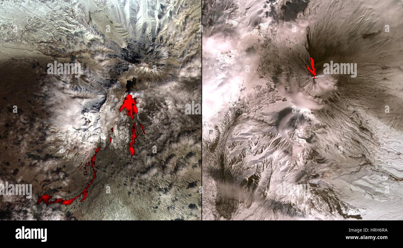 Volcanic Eruptions in Kamchatka, Siberia - Stock Image
