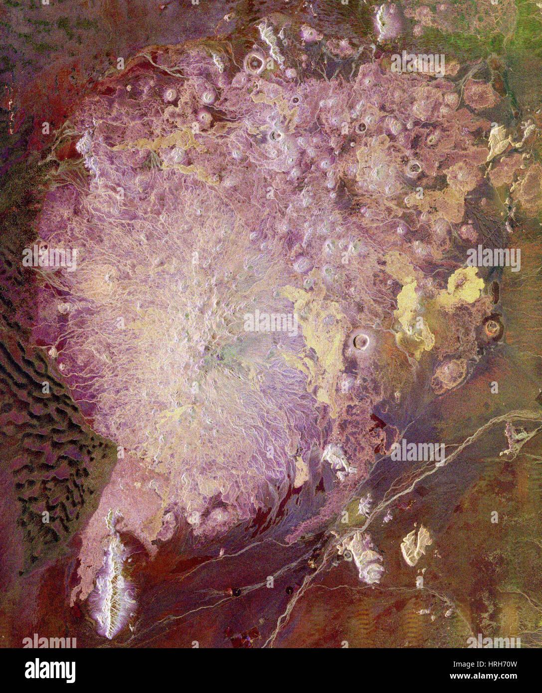 Pinacate Volcanic Field, SIR-C/X-SAR Image - Stock Image