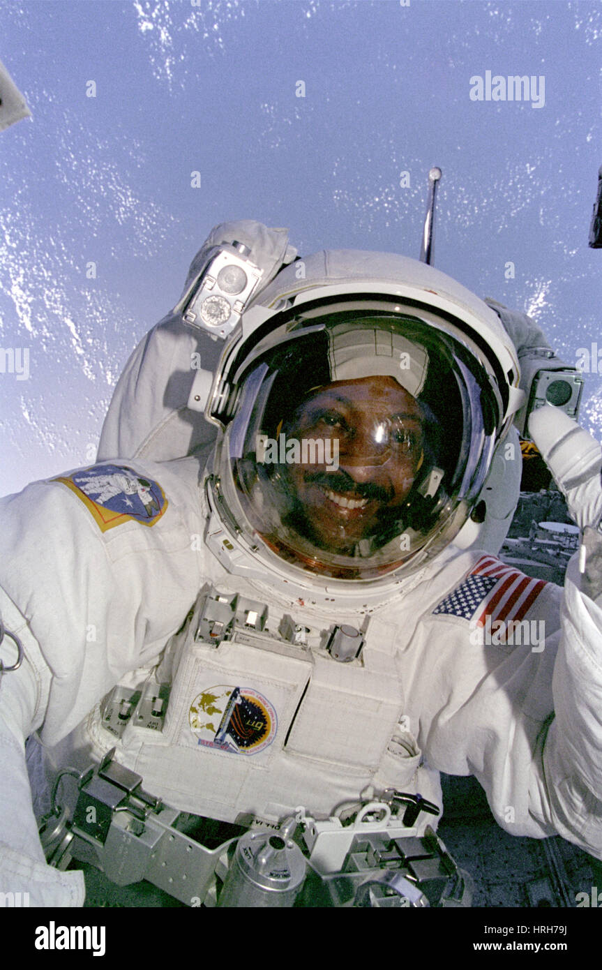 Mission Specialist Winston Scott during EVA - Stock Image