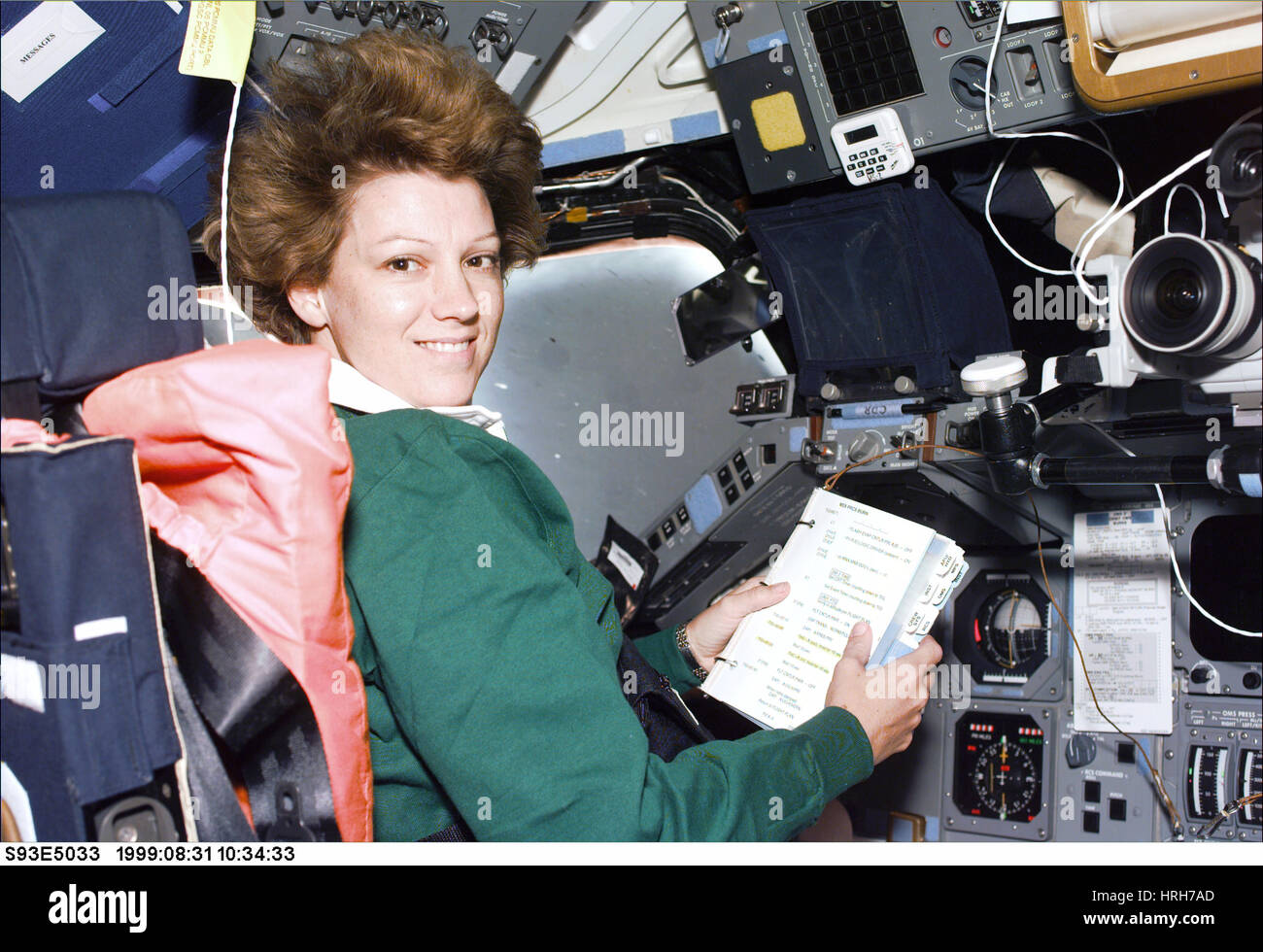 Mission commander Eileen M. Collins on STS-093 - Stock Image