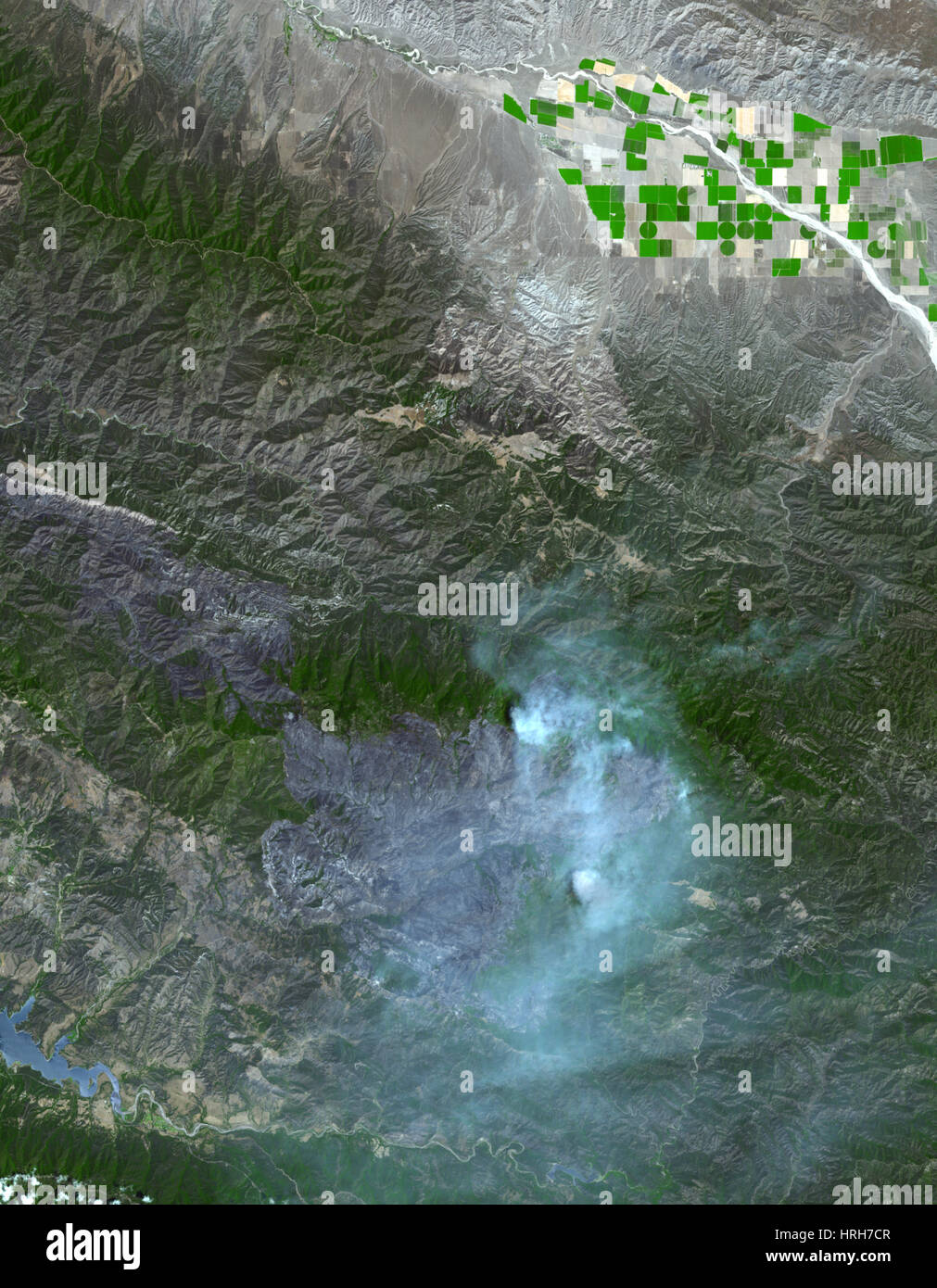 Zaca Fire in Southern California - Stock Image