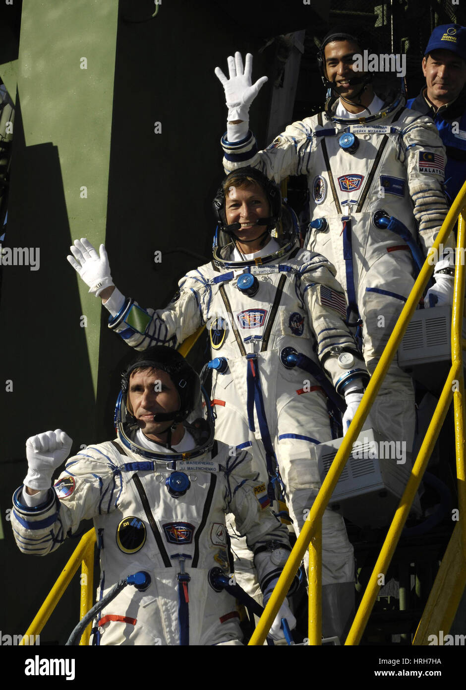 ISS Expedition 16 crew - Stock Image